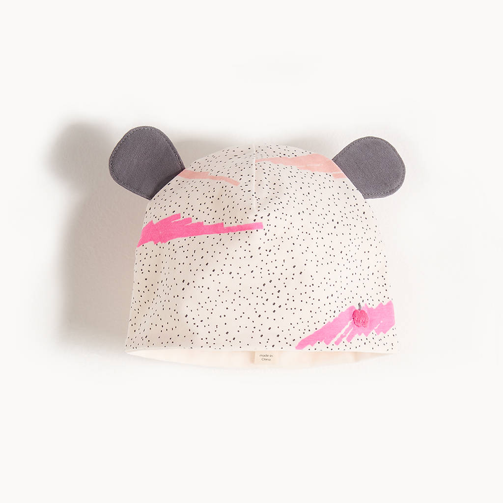 a3afbde6185 ashlin organic cotton baby hat with ears by the bonnie mob ...