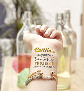 Drink Prosecco Hen Party Temporary Tattoo