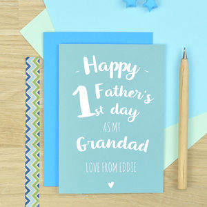 Personalised First Father's Day Card For Grandad - personalised