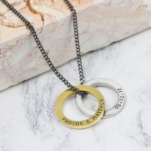 Men's Personalised Hoop Pendant Necklace - necklaces
