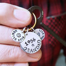 Personalised Grandparent Year Keyring