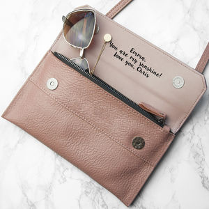 Personalised Leather Clutch Bag - clutch bags