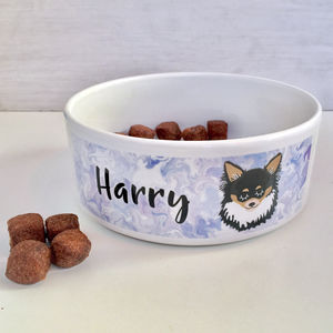 Personalised Marbled Dog Bowl - bowls & mats