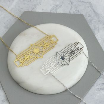 Pablo Laser Cut Aztec Necklace