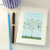 Personalised Thank You Teacher Notebook - stationery