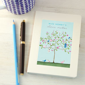 Personalised Thank You Teacher Notebook - personalised