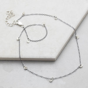 Silver Sequin Choker - necklaces & pendants