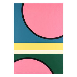 'New Day' Mid Century Modern Screen Printed Wall Art