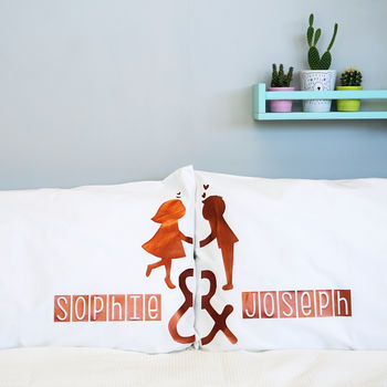 Personalised Kissing Couples Pillow Cases