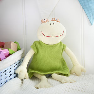 Cotton Frog Soft Toy