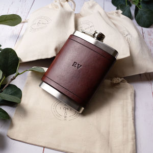 Classic Leather Flask 8oz - retirement & leaving gifts