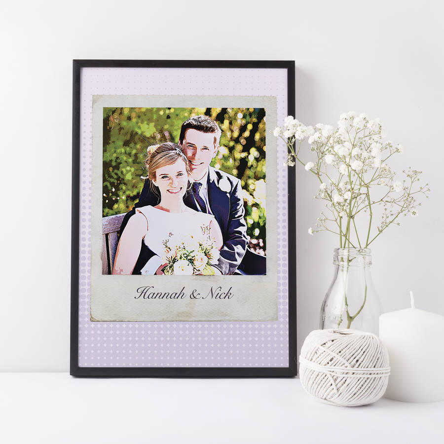 Personalised Polaroid Wedding Print
