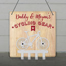 Personalised Cycling Gear Bike Hooks
