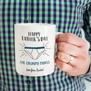 Personalised' Mr Grumpy Pants' Father's Day Mug