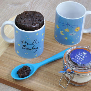 Baby Boy Mug Cake Set For Baby Shower Or New Mum