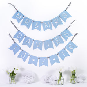 Personalised Name And Message Wedding Banner