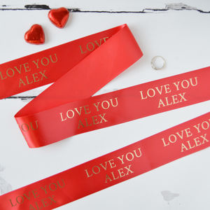 Valentine's Day 48mm Personalised Printed Ribbon