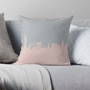 New York Skyline Pillow - living room