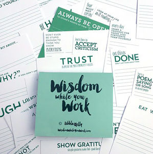 'Wisdom While You Work' Revision Cards Libbla Kelly - the hot desk