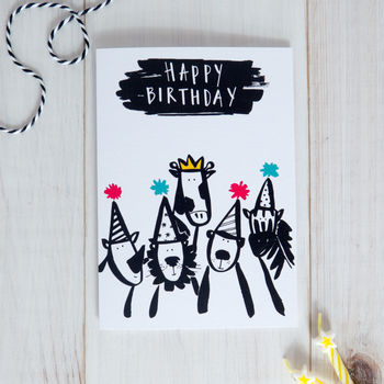 Animal Party Kids Birthday Card By Betty Etiquette