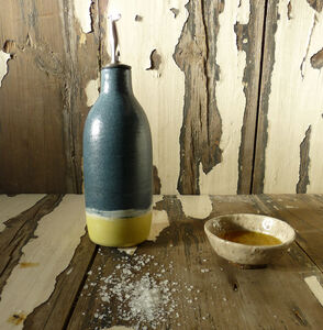 Blue And Yellow Oil Pourer