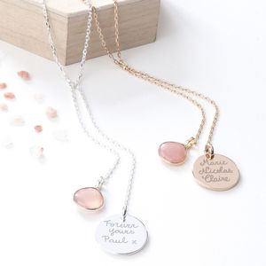 Personalised Lariat Gemstone Necklace - gifts for mothers