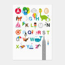 Illustrated Alphabet Postcard