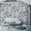 Raw Wall Blue Wallpaper By Woodchip And Magnolia