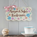 hand painted wood sign for children's rooms and playhouse or playroom