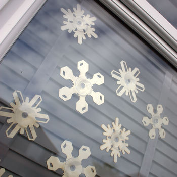 snowflake window decorations for christmas