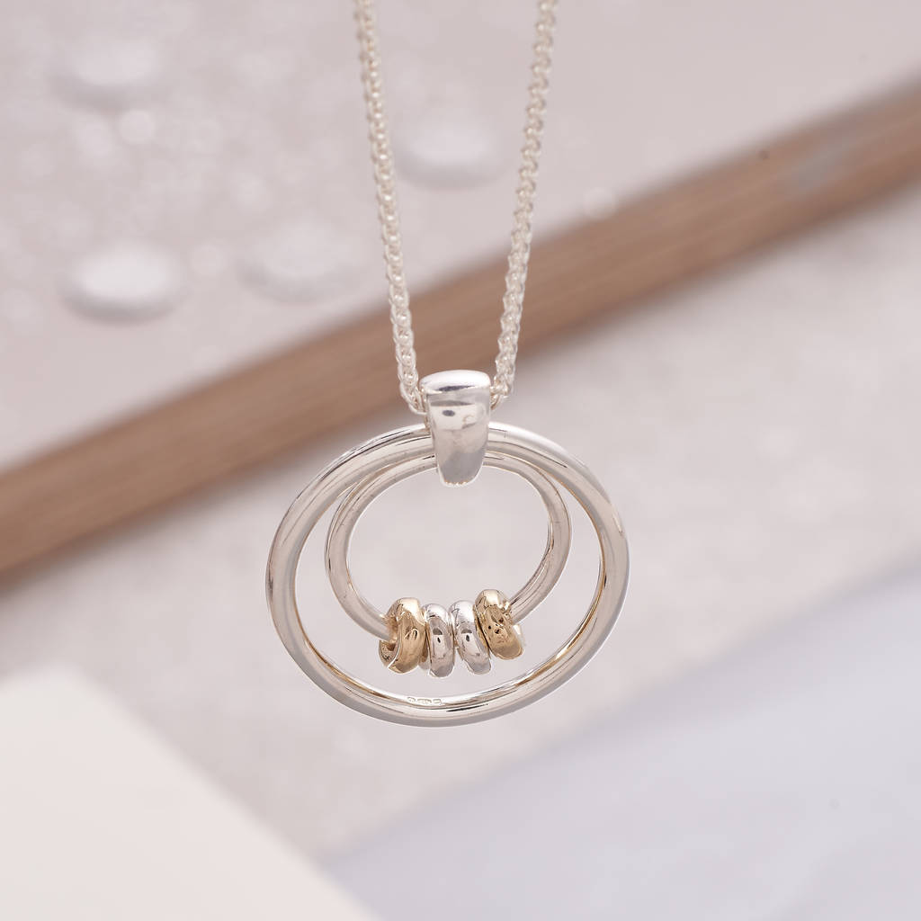 personalised family circle necklace by jewellery