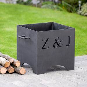 Personalised Metal Fire Pit - gifts for couples