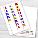 Personalised Nautical Signal Flags Birthday Age Card
