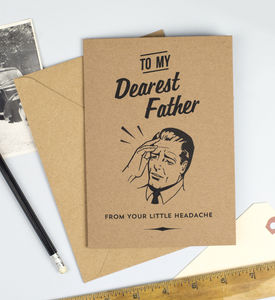 Father's Day Little Headache Card
