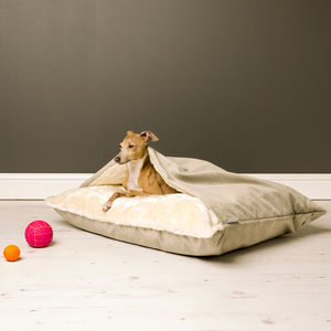Charley Chau Snuggle Bed In Velour - beds & sleeping