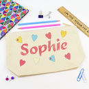 Personalised Hearts Pencil Case