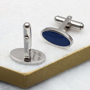 Personalised Secret Message Enamel Cufflinks - personalised