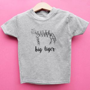 'Big Tiger Little Tiger' Unisex Baby Grow And T Shirt - clothing