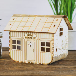 Personalised Mountain Hut Nightlight - children's lighting