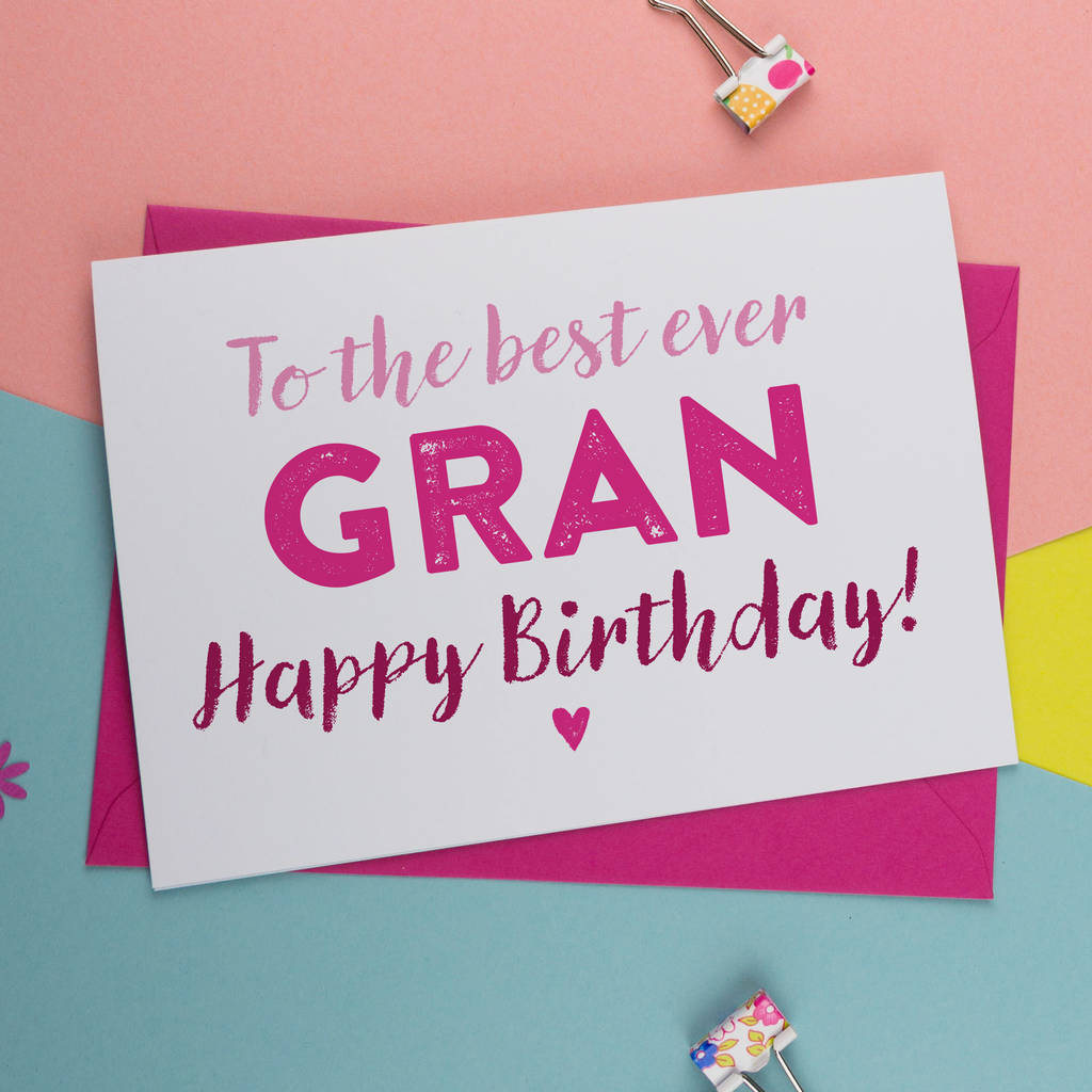 Birthday card for gran nan nanny granny grandma by a is for birthday card for gran nan nanny granny grandma bookmarktalkfo