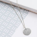 Personalised Sterling Silver Initial Disc Necklace