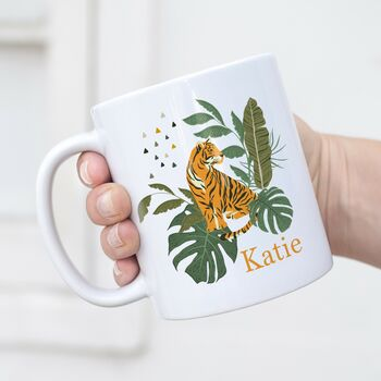 Personalised Tiger Tropical Mug