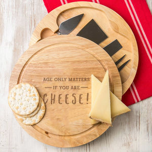'Age Only Matters' Funny Cheeseboard And Knife Set - cheese boards & knives