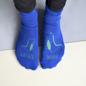 Personalised Daddy Dinosaur Socks - women's fashion