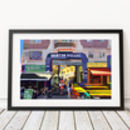Brixton Village Entrance, London Illustration Print