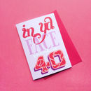 Personalised 'In Ya Face' 40th Birthday Card