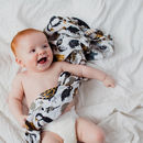 Zoology Print Muslin Swaddle Blanket