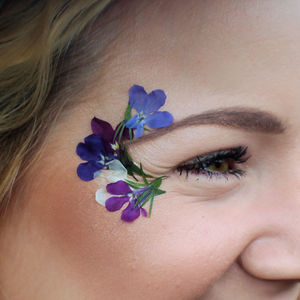 Temporary Little Lobelia Festival Flowers - temporary tattoos