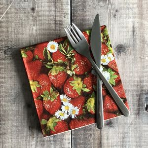 Strawberry Paper Napkins - dining room