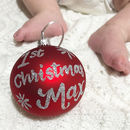 Hand Painted Personalised First Christmas Bauble